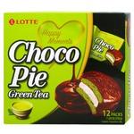 Печенье Lotte Choco Pie Зеленый чай 12*28г 336г
