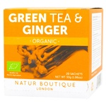 Чай зелений Natur Boutique Органічний з імбирем 40г