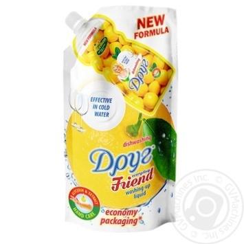 Средство Друг для мытья посуды Лимон 460мл - купить, цены на Фуршет - фото 1