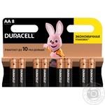 Щелочные батарейки Duracell AA, 8 шт. в упаковке