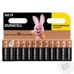 Щелочные батарейки Duracell AA, 12 шт. в упаковке