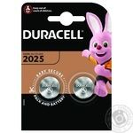 Специализированная литиевая батарейка типа таблетка Duracell 2025 3 В, упаковка 2 шт. (DL2025 / CR2025)