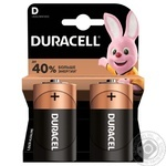 Щелочные батарейки Duracell D, 2 шт. в упаковке