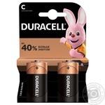 Щелочные батарейки Duracell C, 2 шт. в упаковке