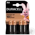 Батарейки Duracell AA 1,5V LR06 4шт - купить, цены на Novus - фото 1