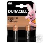 Лужні батарейки Duracell AA, 2 шт. в упаковці