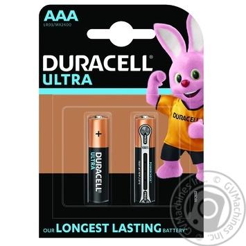 Щелочные батарейки Duracell Ultra Power AAA, 2 шт. в упаковке - купить, цены на Novus - фото 1