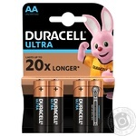 Щелочные батарейки Duracell Ultra Power AA, 4 шт. в упаковке