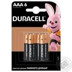Щелочные батарейки Duracell AAA, 6 шт. в упаковке