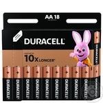 Лужні батарейки Duracell AA, 18 шт. в упаковці