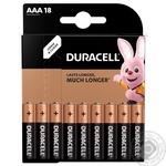 Щелочные батарейки Duracell AAA, 18 шт. в упаковке