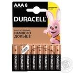 Лужні батарейки Duracell AAA, 8 шт. в упаковці