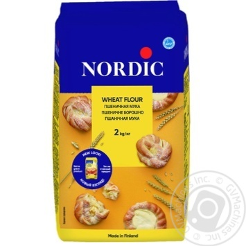 Мука Nordic пшеничная высший сорт 2кг - купить, цены на Восторг - фото 1