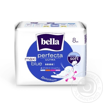 Прокладки гігієнічні Bella Perfecta Ultra Maxi Blue 8шт - купити, ціни на Novus - фото 1