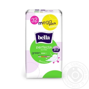 Bella Perfecta Ultra Green 4 Drops Hygienical Pads 32pcs