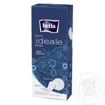 Прокладки Bella Panty Ideale Large ежедневные ультратонкие 3,5 капельки 20шт - купить, цены на Novus - фото 1