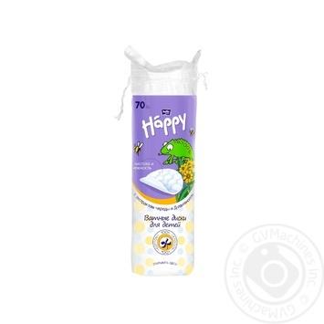 Ватные диски Bella Baby Happy с экстрактом череды, д-пантенолом для детей 70шт - купить, цены на Восторг - фото 1