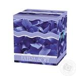 Хустинки паперові Bella №1 Extra Soft косметичні двошарові 80шт