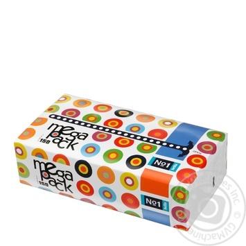 Хустинки паперові Bella №1 Mega Pack унiверсальні двошарові 150шт