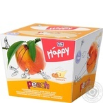 Платочки бумажные Bella Baby Happy двухслойные с ароматом персика 40+40шт