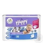 Подгузники Bella baby Happy 3 midi 5-9кг 32шт