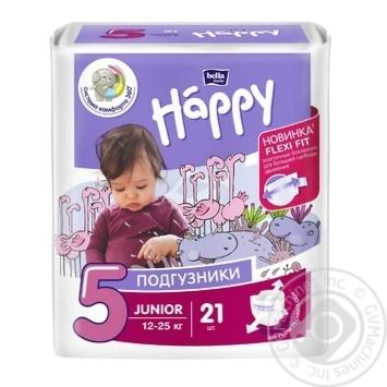 Подгузники Bella baby Happy 5 Junior 12-25кг 21шт - купить, цены на Novus - фото 1