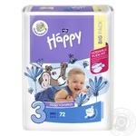 Bella Happy Midi 3 5-9kg Diapers 72pcs