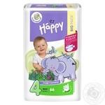 Дитячі підгузники Bella BABY HAPPY MAXI 66 шт., вага 8-18 кг.