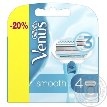 Картриджи для бритья Gillette Venus сменные 4шт - купить, цены на МегаМаркет - фото 1