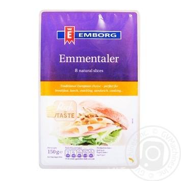 Сыр Emborg Эмменталь нарезанный 45% 150г - купить, цены на МегаМаркет - фото 1