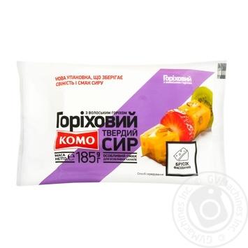 Сыр Комо Ореховый твёрдый с грецким орехом 50% 185г - купить, цены на Фуршет - фото 1