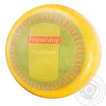 Сыр FRIENDSHIP Маасдам 45% весовой