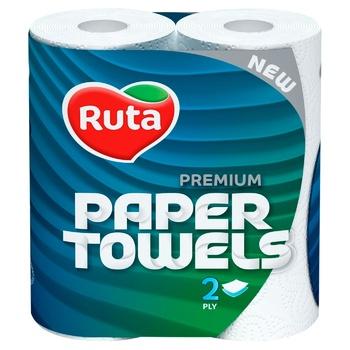 Рушники Ruta Premium паперові двошарові 2шт