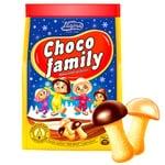 Печиво Загора Choco Family шоколадні грибочки 100г
