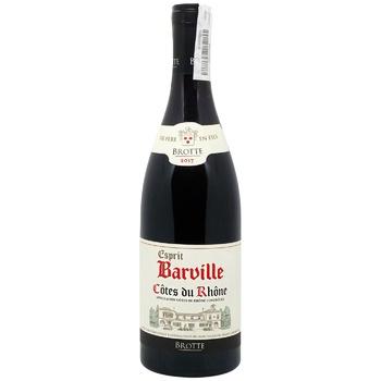 Вино Brotte S.A.Cotes du Rhone Esprit Barville Rouge червоне сухе 15% 0,75л - купити, ціни на CітіМаркет - фото 1