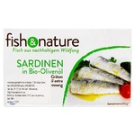 Fish sardines Fish&nature in olive oil 118g can