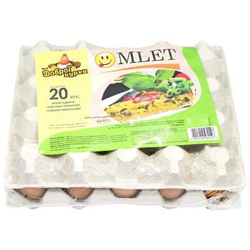 Яйця курячі Від доброї курки Omlet С1 20шт - купити, ціни на CітіМаркет - фото 3