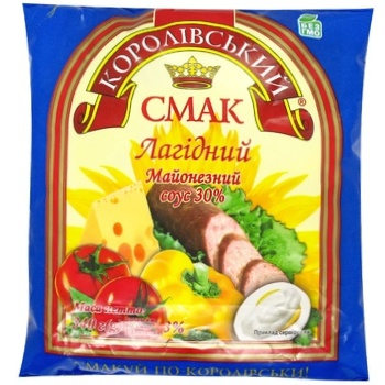 Korolivsky Smak Lagidny Mayonnaise Sauce 30% 340g - buy, prices for CityMarket - photo 1