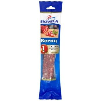 Biovela Cervelat Raw Smoked Sausage 230g - buy, prices for CityMarket - photo 1