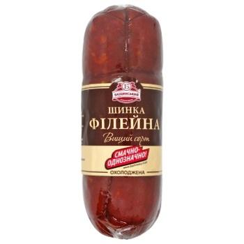 Ветчина Бащинский Филейная к/в в/с в/у 600г