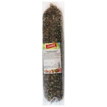 Ковбаса Zimbo Салямі покрита кольор.перцем с/в ваг - купити, ціни на CітіМаркет - фото 1
