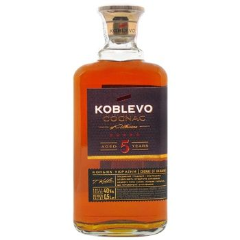 Koblevo 5 stars brandy 40% 0,5l - buy, prices for CityMarket - photo 1