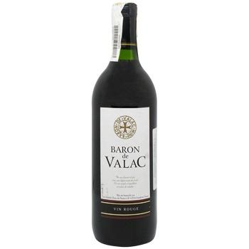 Вино Baron de Valac красное сухое 10.5% 0.75л - купить, цены на СитиМаркет - фото 1