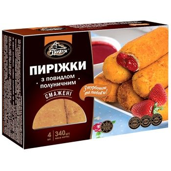 Polissia Frozen Fried Pies with Strawberry Jam 340g - buy, prices for CityMarket - photo 1