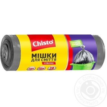 Мешки Chisto Strong для мусора 10шт*120л