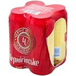 Пиво Черниговское cветлое 4*0,5л ж/б