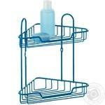 Marbella Metal Two-Tiers Blue Corner Shelf