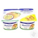 Йогурт Danone Живинка Персик-маракуйя 1.5% 4шт 115г - купить, цены на Novus - фото 1