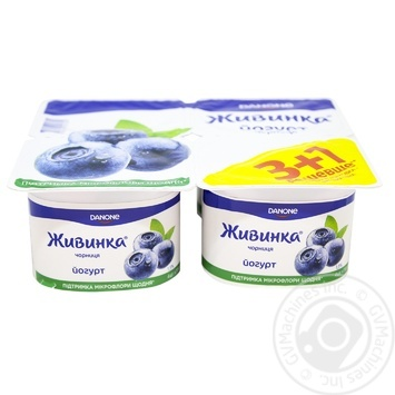 Yogurt Zhivinka blueberry 1.5% 115x4g - buy, prices for Novus - image 1