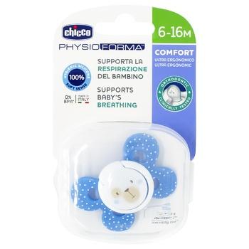 Пустушка Chicco Physio Comfort силік. 6-16м блак.1шт - купити, ціни на CітіМаркет - фото 1